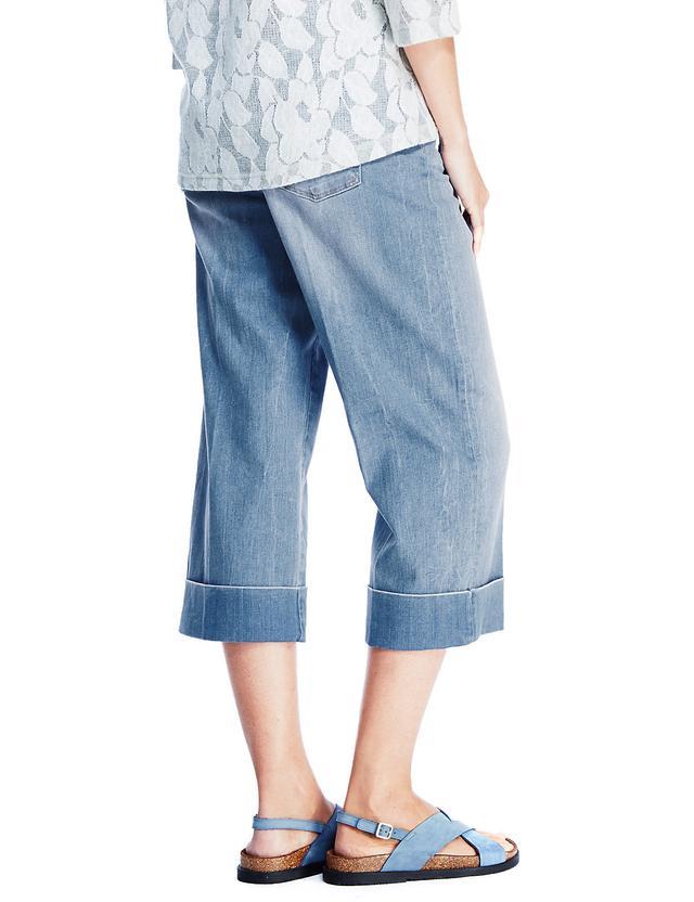 Wide leg cropped jeans endource