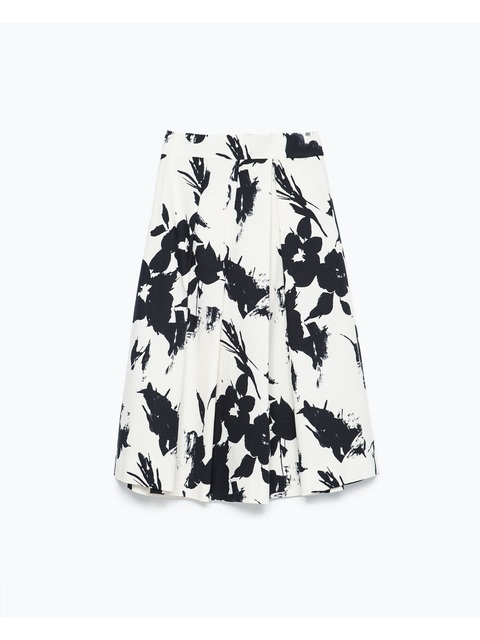 b0fe1962 Floral Print Pleated Skirt | Endource
