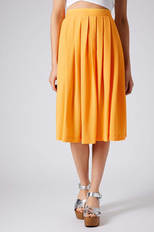 ORANGE FULL MIDI SKIRT | Endource