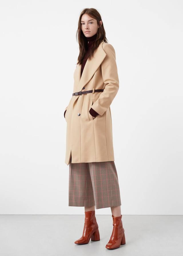 Belt Wool Coat | Endource