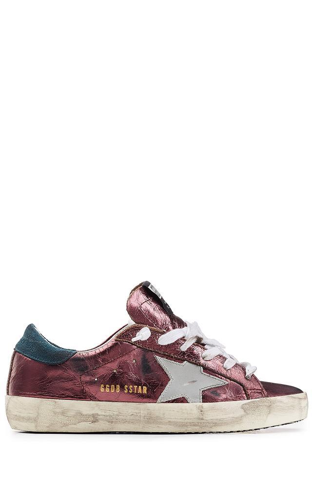 Superstar lace-up sneakers - Pink & Purple Golden Goose tonpt