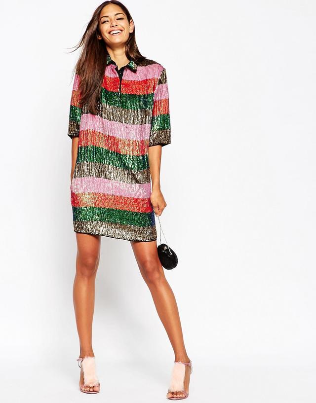Sequin Stripe Dress - Endource
