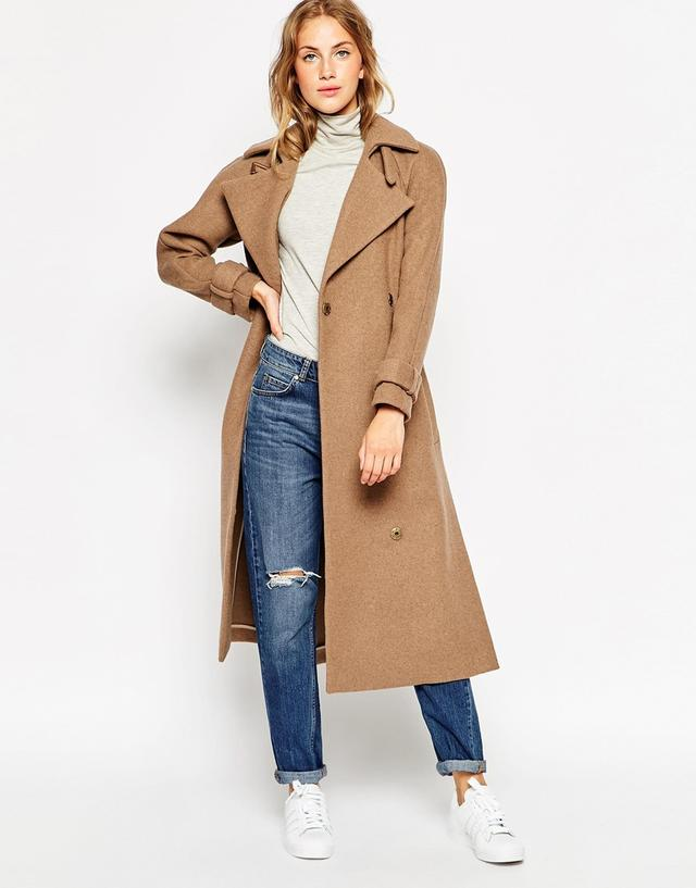 Belted Maxi Coat Endource