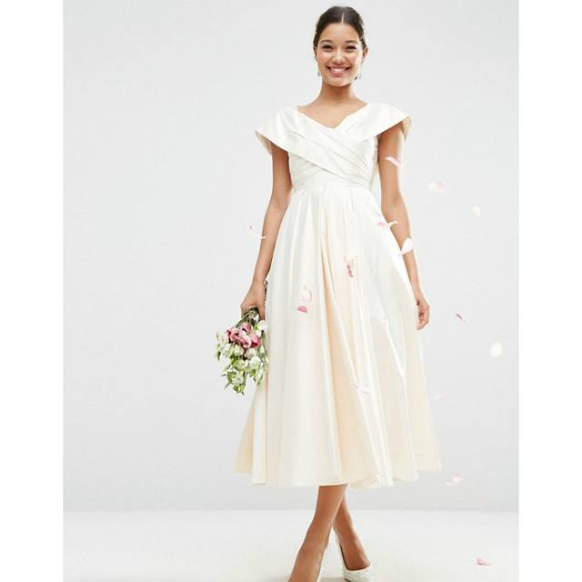Cross Fold Debutante Dress | Endource