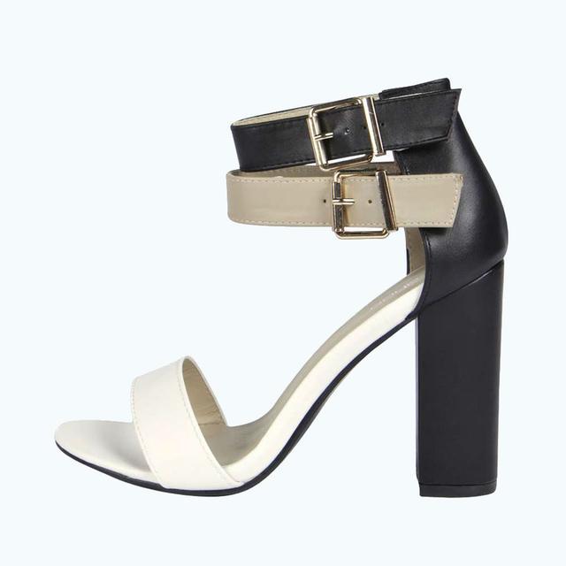 6c92f53b21c Lydia Double Ankle Strap Block Heels