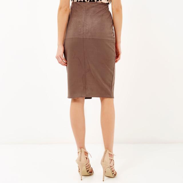 Faux-suede Pencil Skirt | Endource
