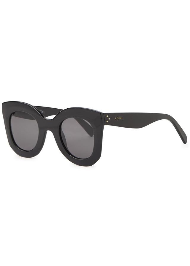 95307e92064 CELINE Traveller Sunglasses CL 41023 S Black 138095. Black Cat-Eye  Sunglasses