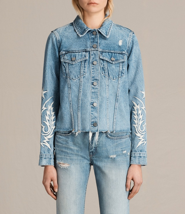 Philly Embroidered Denim Jacket  Endource
