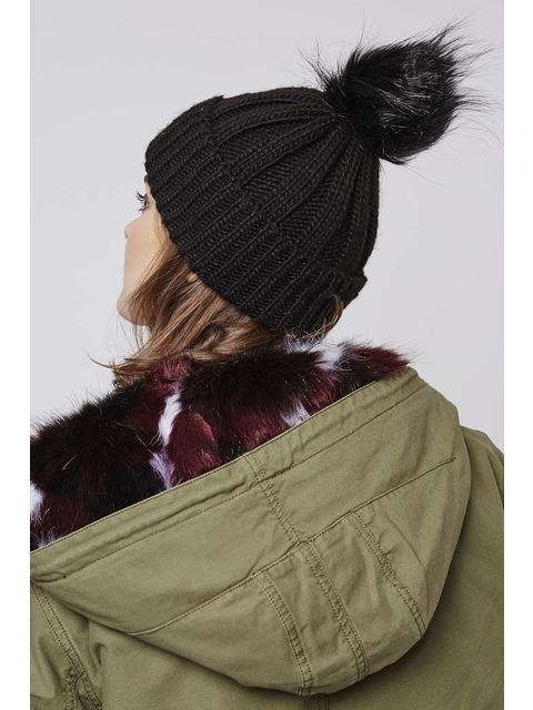 4ecb2161ab8 Faux Fur Pom Beanie Hat