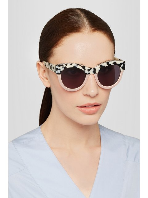08d39766937 Chain-trimmed Cat-eye Sunglasses