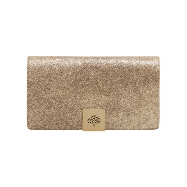 Campden Clutch Metallic Mushroom   Taupe Soft Grain   Endource a6791661e0