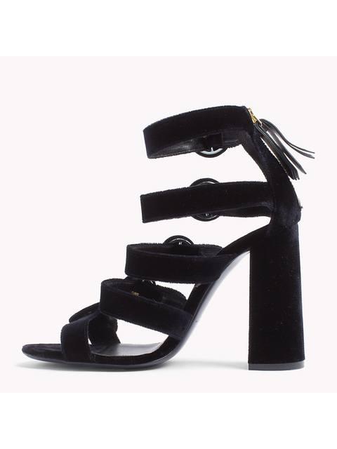 5d2bae254 Velvet Buckle Sandals