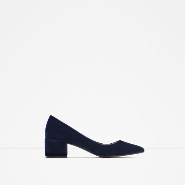 Block Heel Velvet Shoes