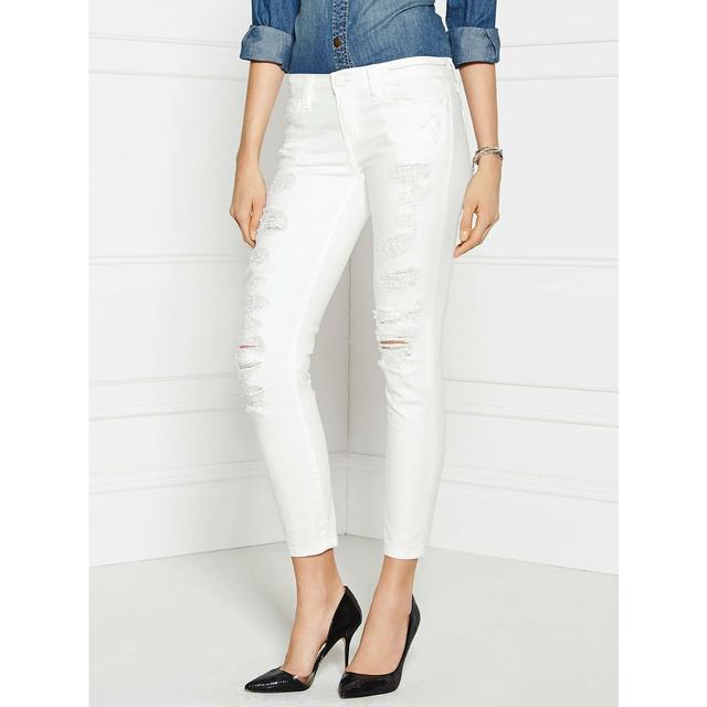 White Distressed Jeans | Endource