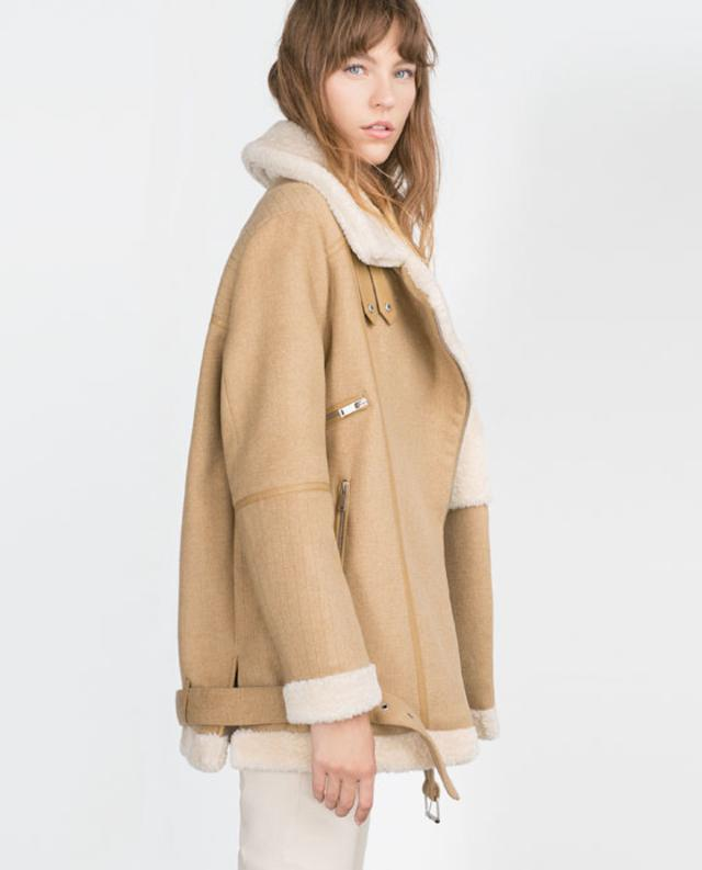 Oversized Sheepskin Coat | Fashion Women's Coat 2017