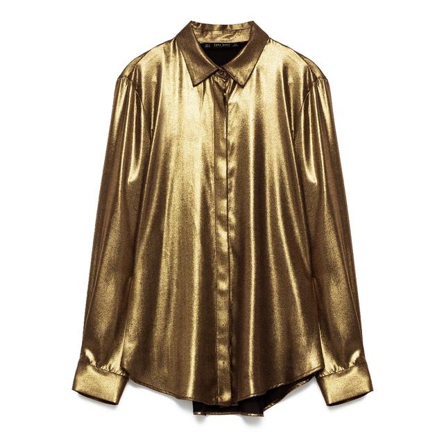 858a02845bad8d Metallic Foil Shirt | Endource