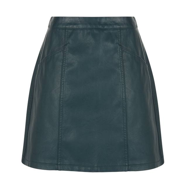 Leather-Look Mini Skirt | Endource