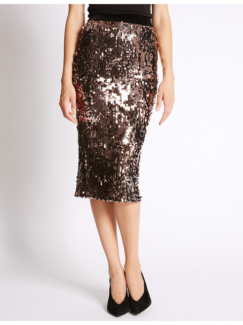 8ec1b3e0f9 Sequin Pencil Skirt | Endource