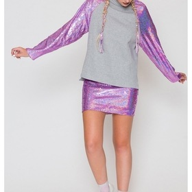 Pink Hologram Sweatshirt by Jaded London