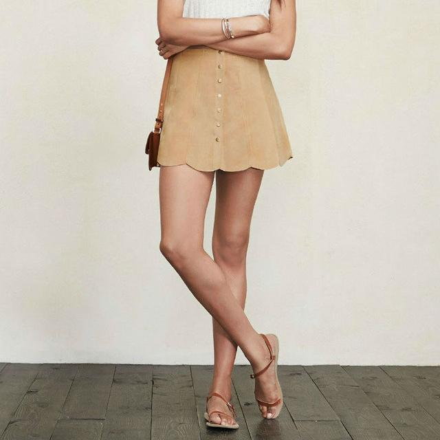 df2673c98 Suede Scallop Hem Skirt | Endource