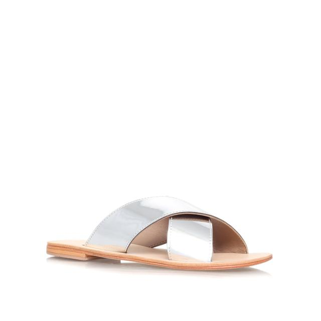 Metallic 'Rex' flat sandals clearance for nice nftLK