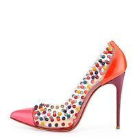 red bottom dress shoes for men - Spike Me PVC Cap-Toe Pump | Endource