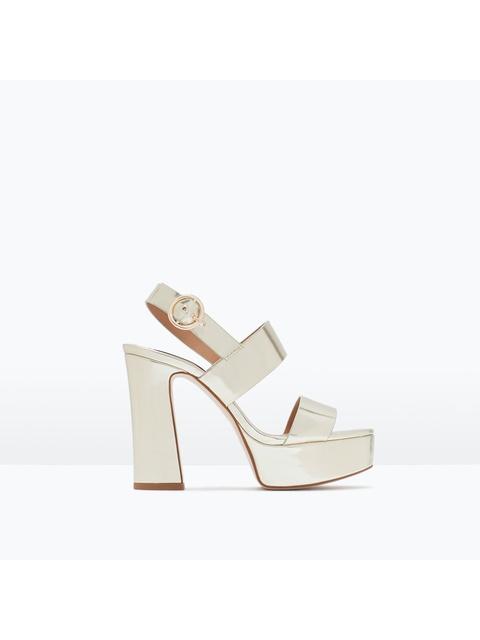 3f2feb1222e4 Metallic Platform Sandals