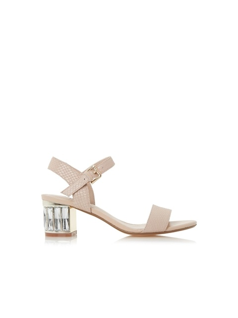 7ef52e06f84a83 Marcia Jewelled Block Heel Sandals