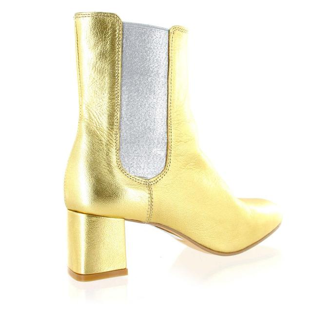gold leather ankle boot endource
