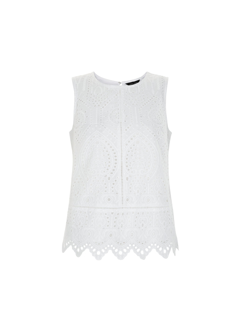 726238c76212cb Crochet Scallop Hem Sleeveless Top