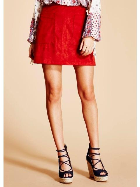 5b549f4b1 Suedette A-line Skirt | Endource