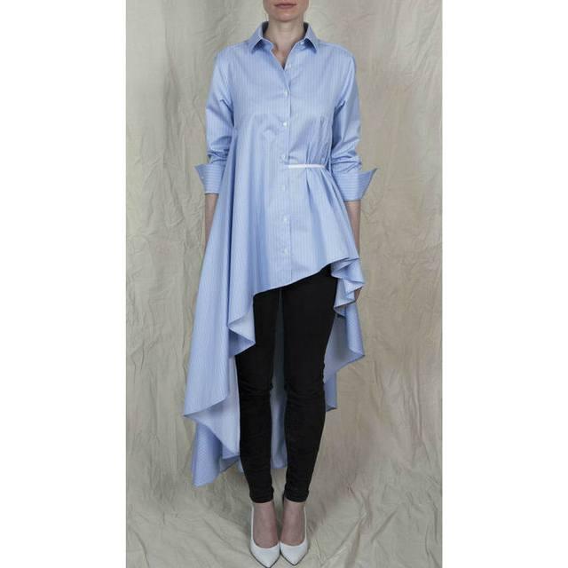 Long Sleeved Asymmetric Long Shirt Endource