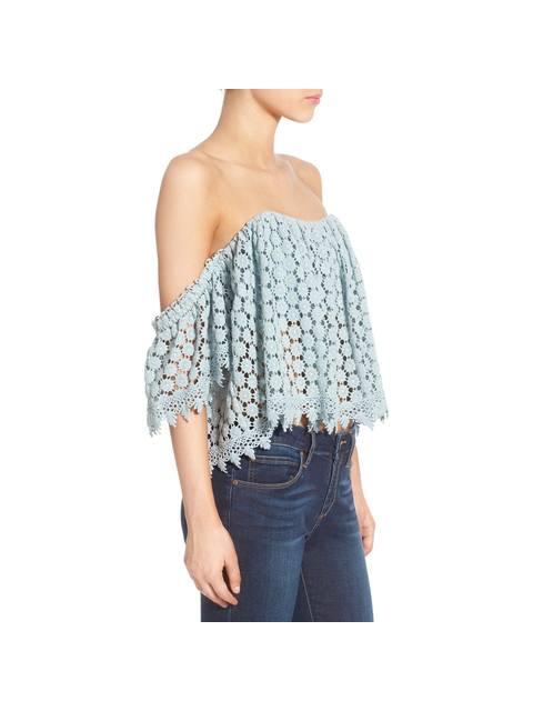 f1fa693981881f Amelia Off-The-Shoulder Crochet Crop