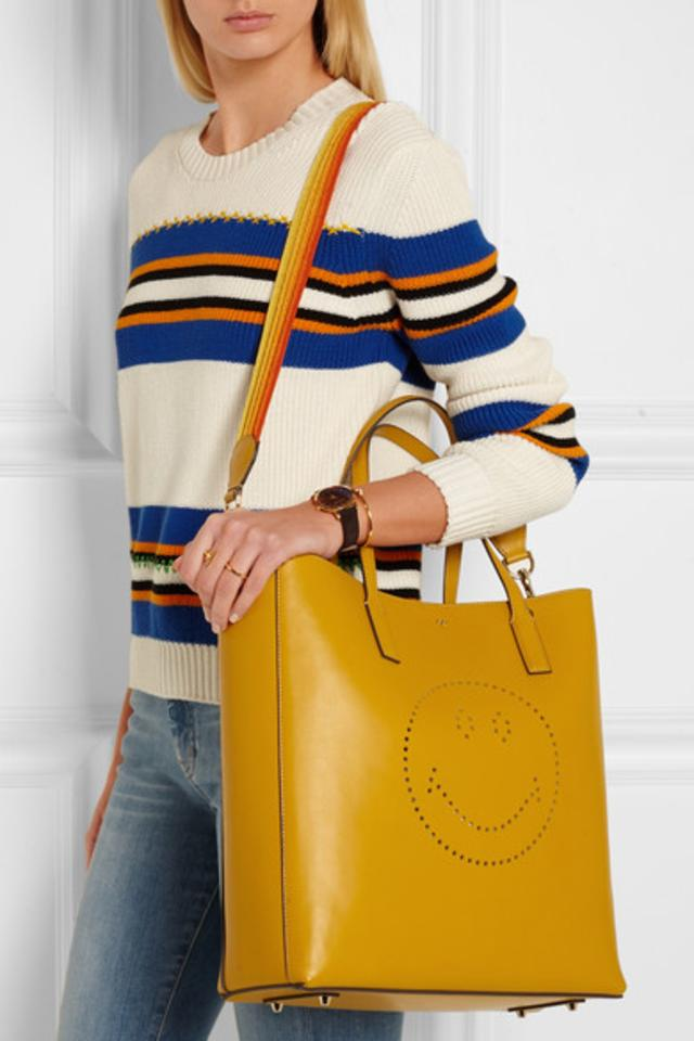 Smiley Ebury tote bag - Yellow & Orange Anya Hindmarch Geniue Stockist For Sale Good Service For Sale Cheap Price Buy Cheap Free Shipping NWNxfPVO