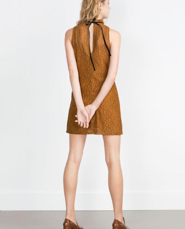 Zara Black Skirt With Lace Trim 26