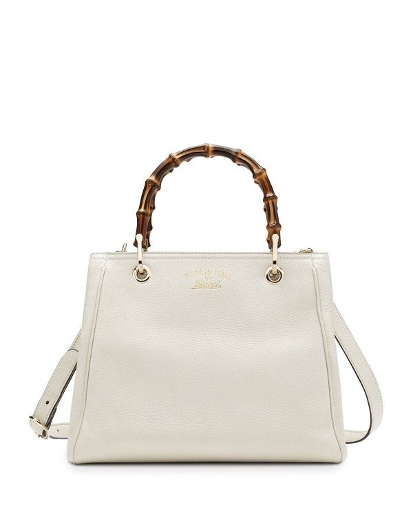 Bamboo shopper mini leather top bag