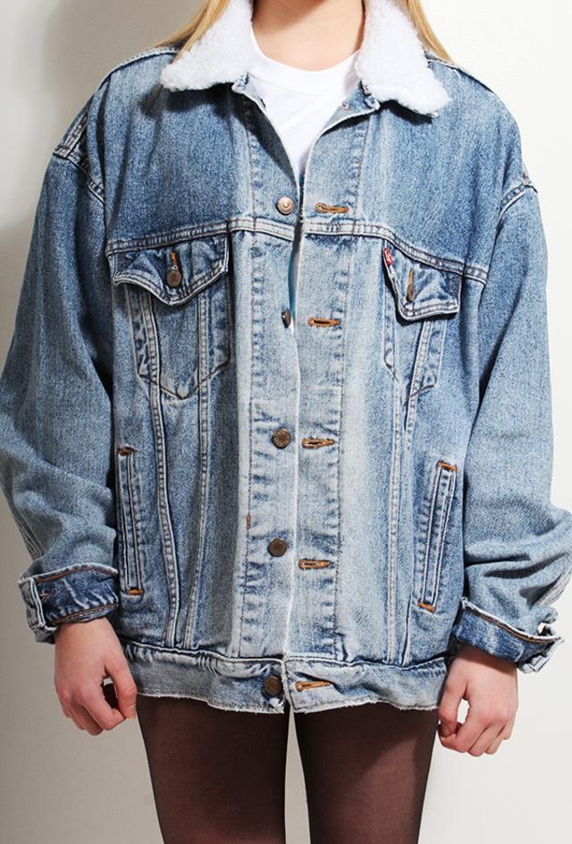 Poorboy Fleece Collar Denim Jacket | Endource