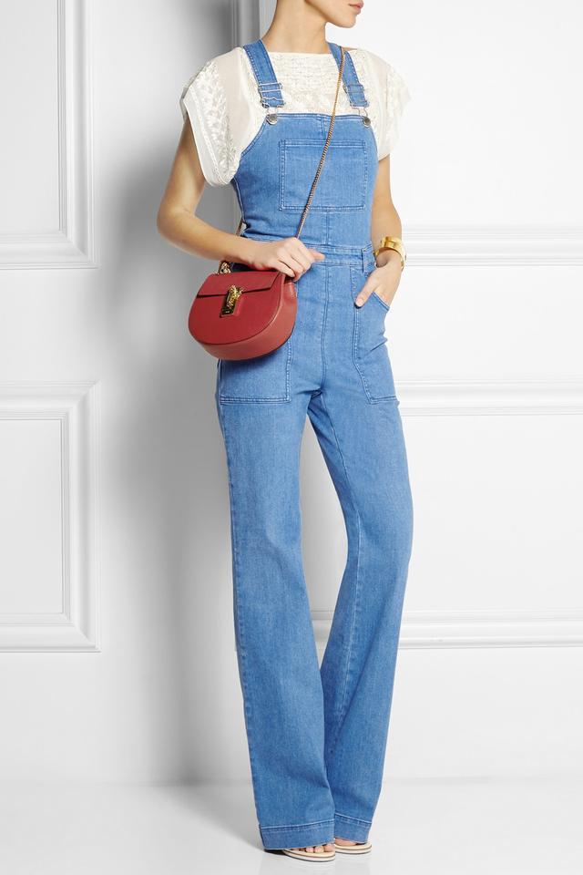 chloe elsie small bag - drew leather \u0026amp; suede shoulder bag, rose (pink) - chloe