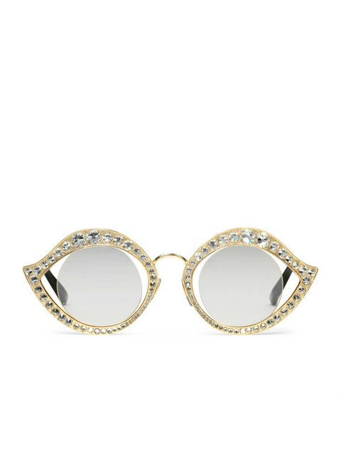 5f370e5df0f Cat-Eye Sunglasses with Crystals