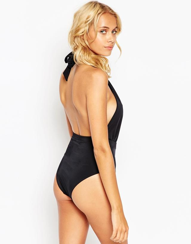 Plunging Halter Swimsuit Plunge Halter Swimsuit by Asos