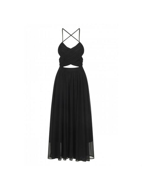 cf626de68b158 Wrap Lace Up Floaty Midi Dress | Endource