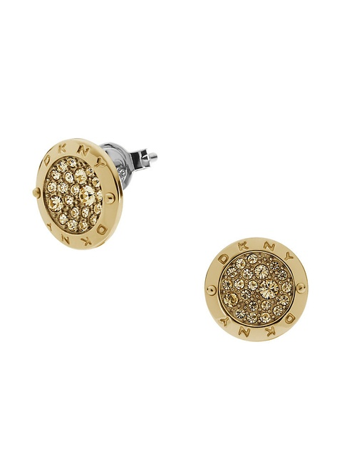 Dkny Light Colorado Topaz Round Stud Earrings