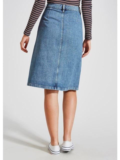 fbd7651aff Button Through Midi Denim Skirt | Endource