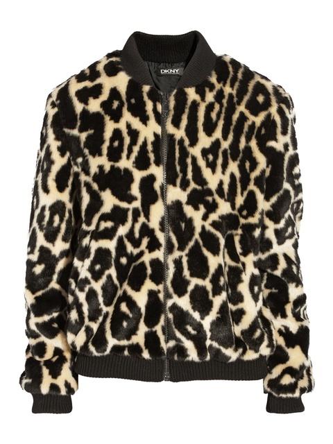 717cae28e964 Leopard-print faux fur bomber jacket | Endource