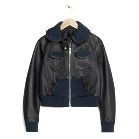 Cropped Leather Jacket by & Other Stories