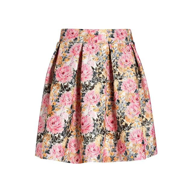 Floral Printed Lace Skirt | Endource