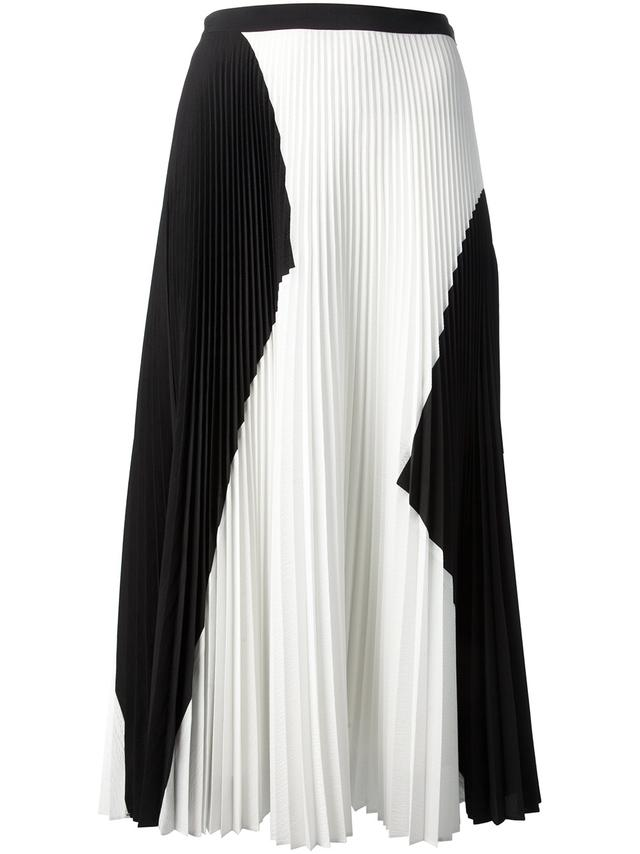 Black and White Pleated Skirt | Endource