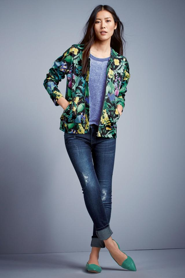 Floral Printed Bomber Jacket | Endource