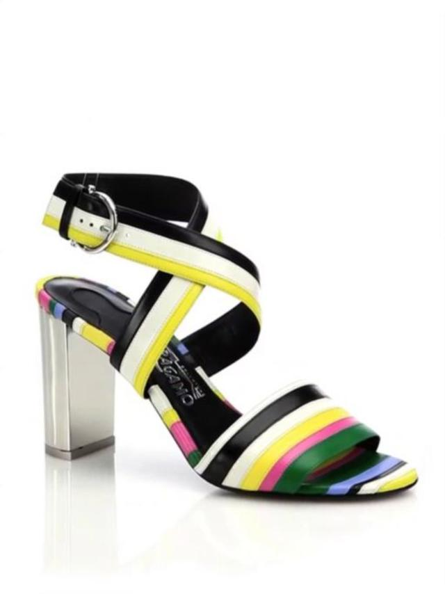 7c196c098488 Gilli Striped Leather Sandals