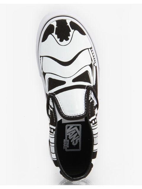 bb0f1bc808 Vans x Star Wars Classic Slip On Boys Skate Shoes - Stormtrooper ...